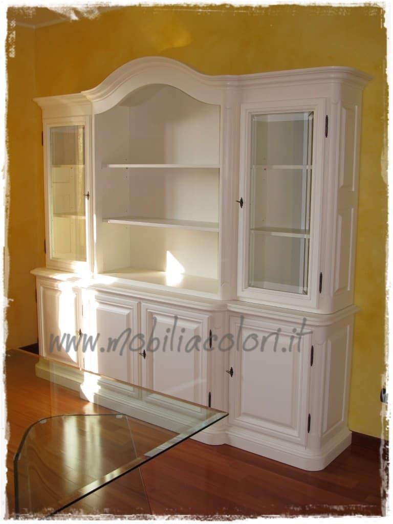Ricolorazione credenza e trasformazione soggiorno - Colorare i mobili ...
