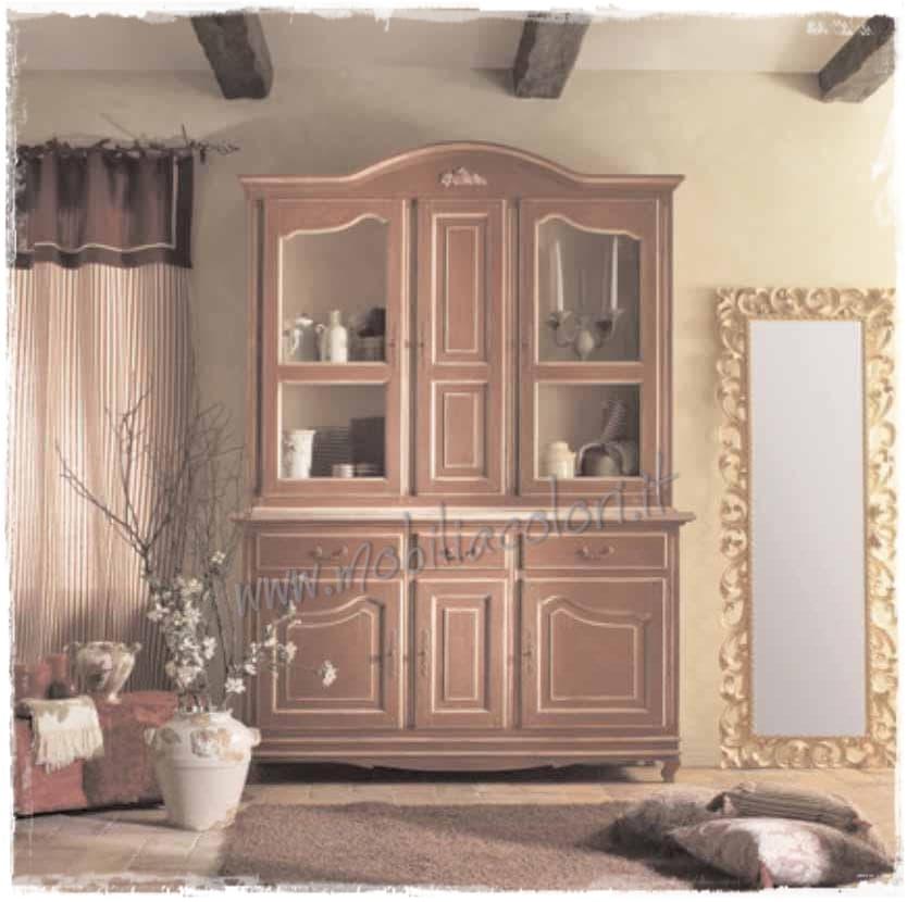 Credenze con vetrina decorate a mano - Mobili stile provenzale ...