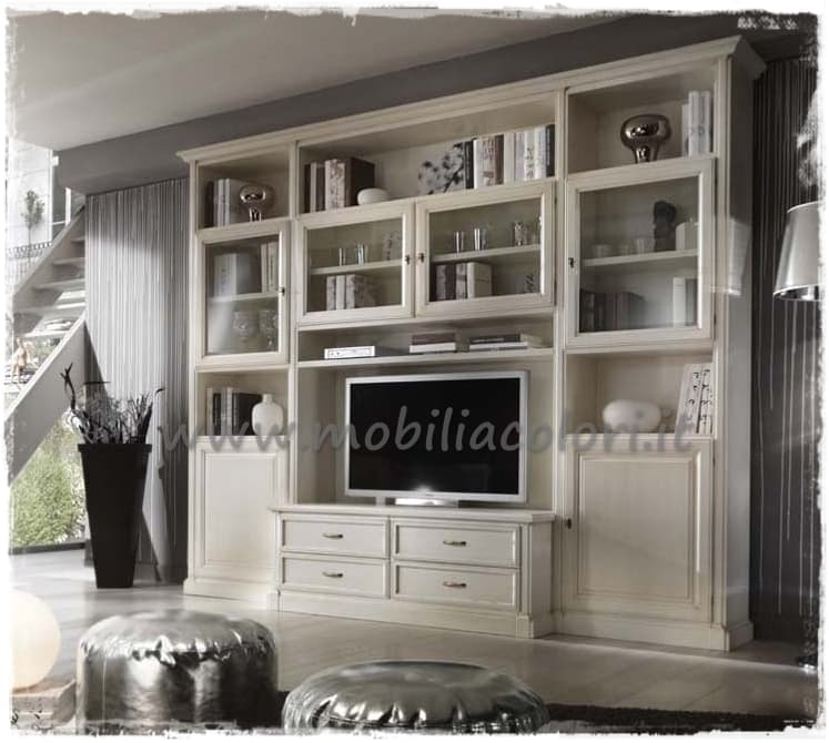 Arredare con pareti soggiorno componibili a misura for Soggiorno shabby