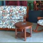 salotto stile country mobili dipinti a mano