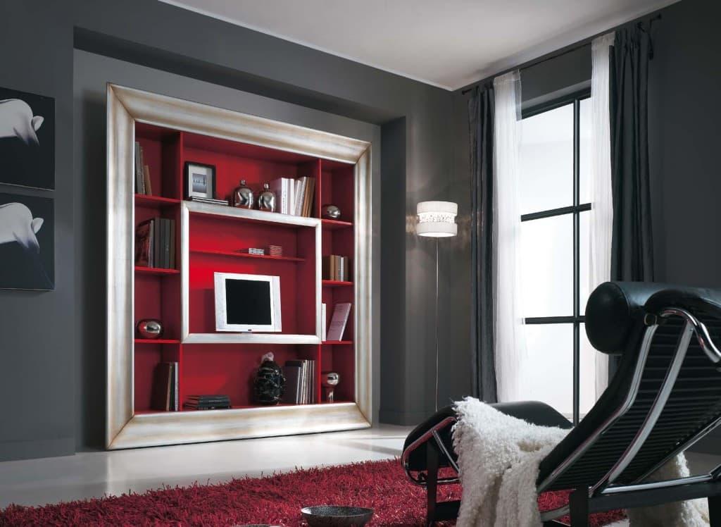 Soggiorni con porta tv quadro con cornice for Cornice adesiva per pareti