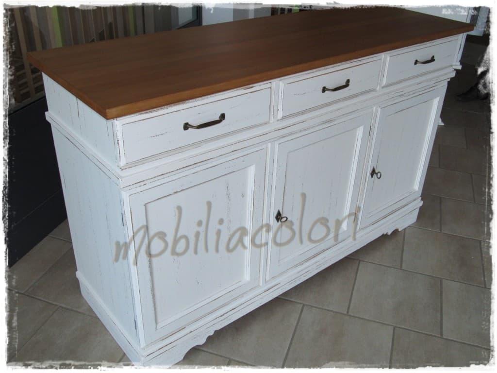 Credenze e cristalliere country e country chic for Stencil per mobili cucina