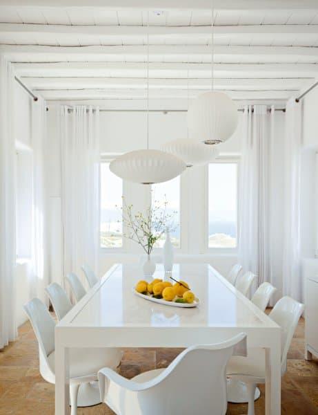 sala da pranzo bianco totale - mobili per passione