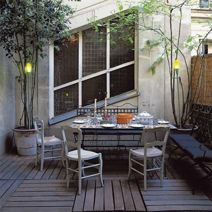 arredare il terrazzo e outdoor in stile shabby  -  mobiliperpassione