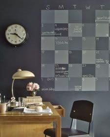 parete con intonaco magnetico e pittura lavagna
