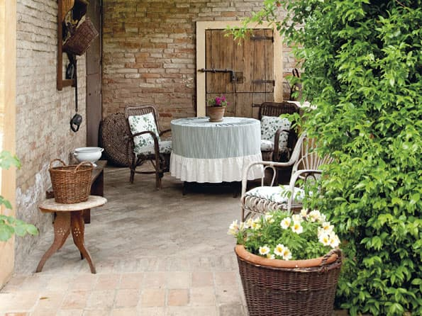 giardino arredamento provenzale