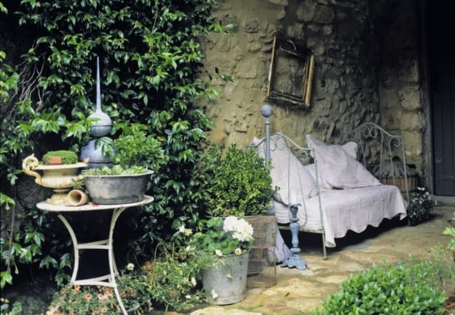 giardino provenzale arredamento