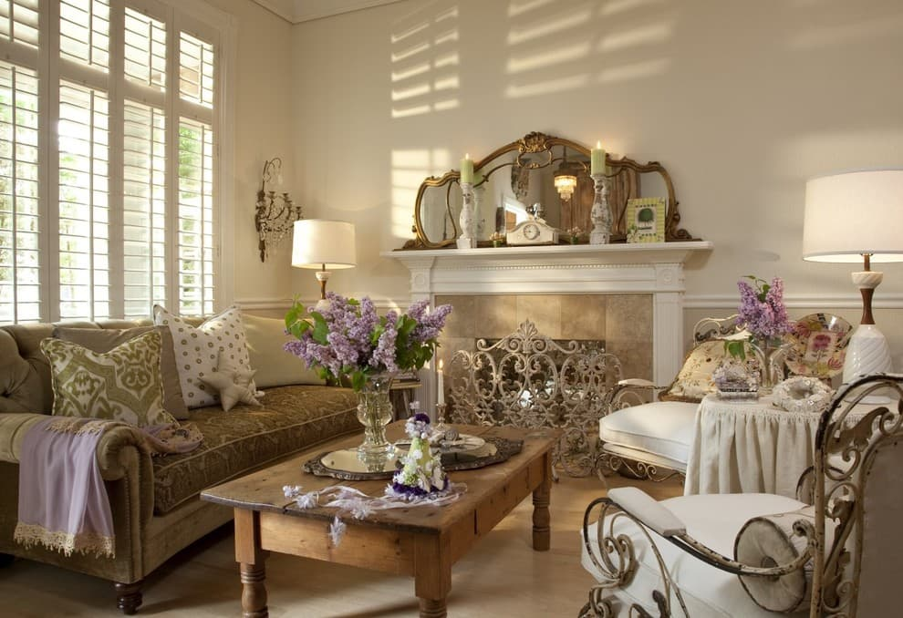 Open space come arredarlo for Shabby chic living room ideas on a budget