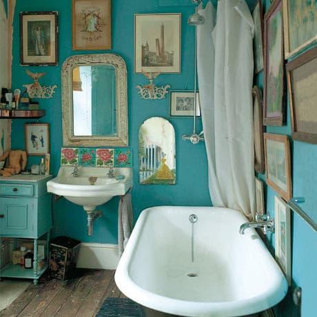 Un po\' di vintage nell\'arredo del bagno
