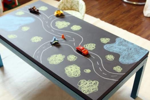 tavolo gioco effetto lavagna