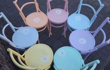 colora le tue sedie con chalk paint di autentico