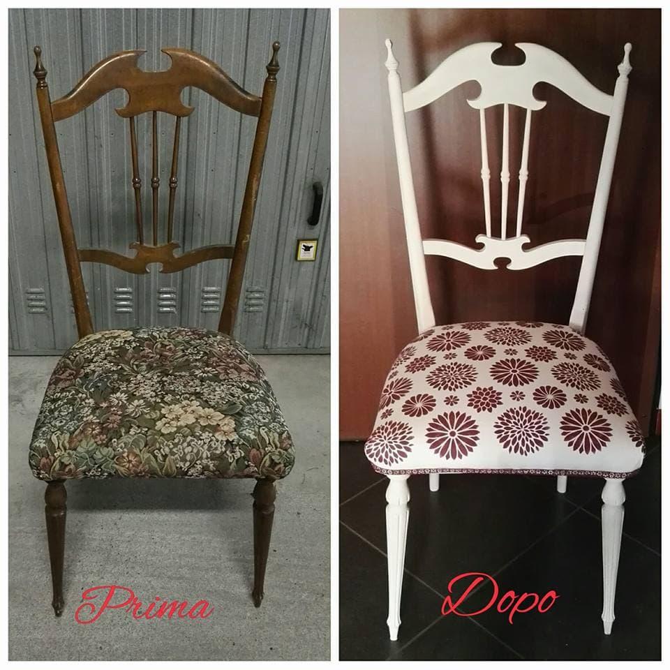 sedie nuove con la chalk paint di autentico