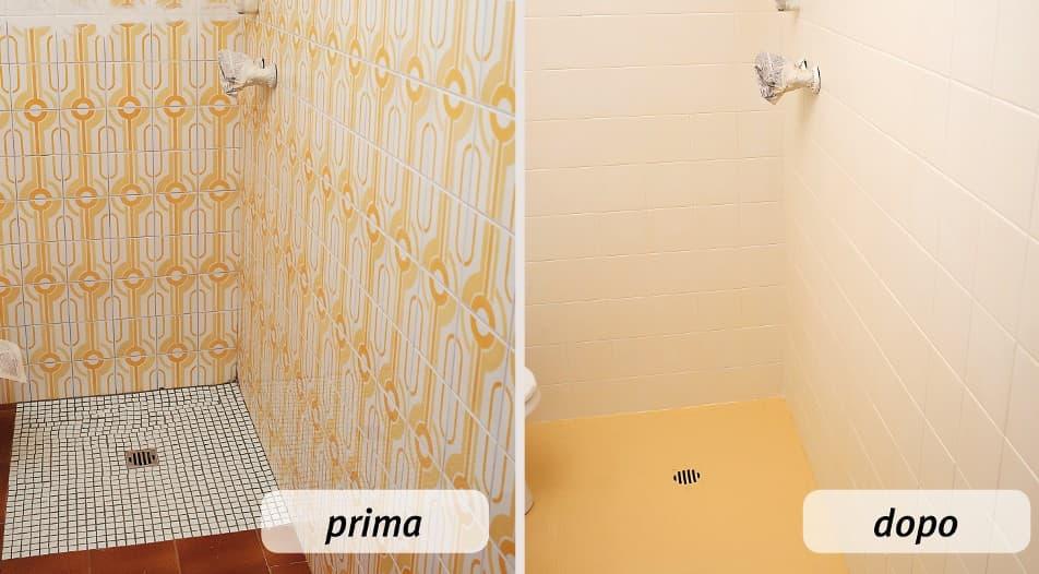 Make up per la stanza da bagno mobili per passione - Verniciare le piastrelle ...