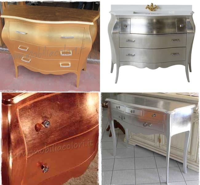 Arreda con oro, argento e rame   mobili per passione