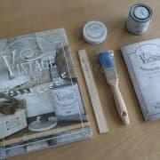 starter kit con libro vintage paint