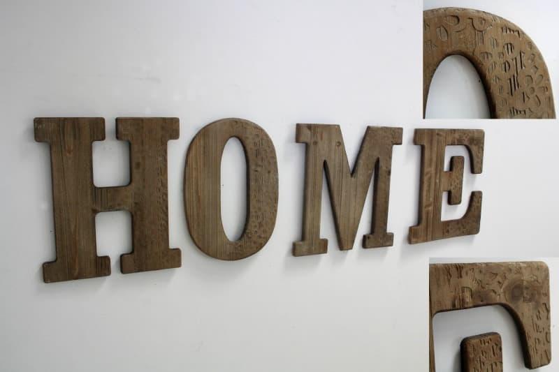 Scritta legno home mobili per passione for Scritta home in legno