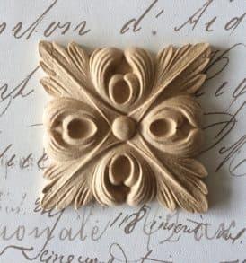 decoro pasta di legno 9 cm