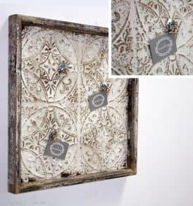 pannello legno metallo per appunti