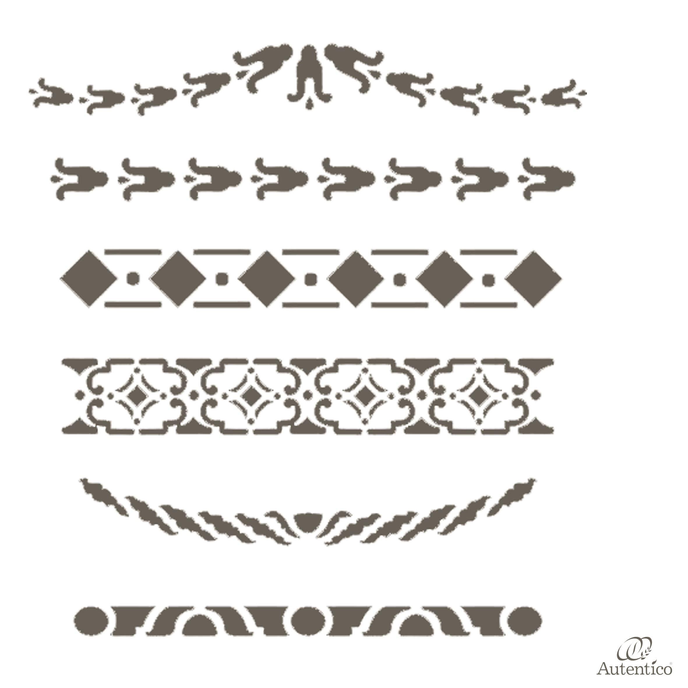 Stencil riutilizzabile adriane autentico collection - Stencil adesivi per mobili ...