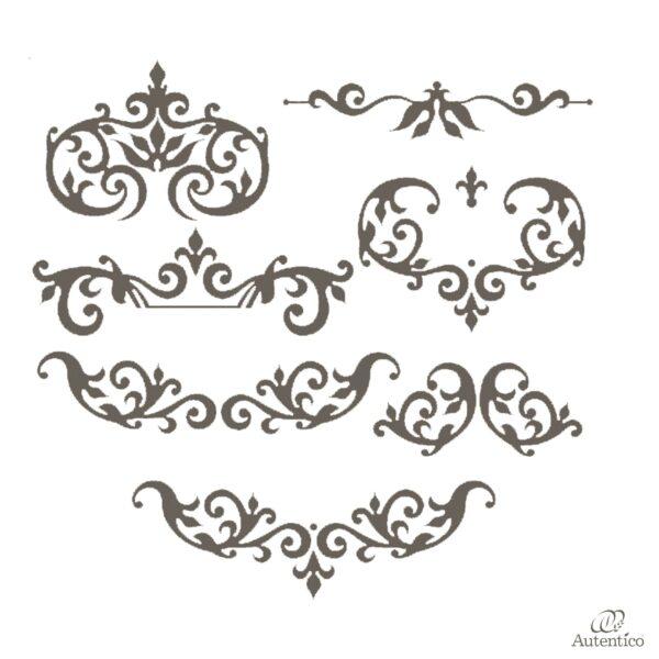 Stencil riutilizzabile arabella autentico collection for Disegni mobili
