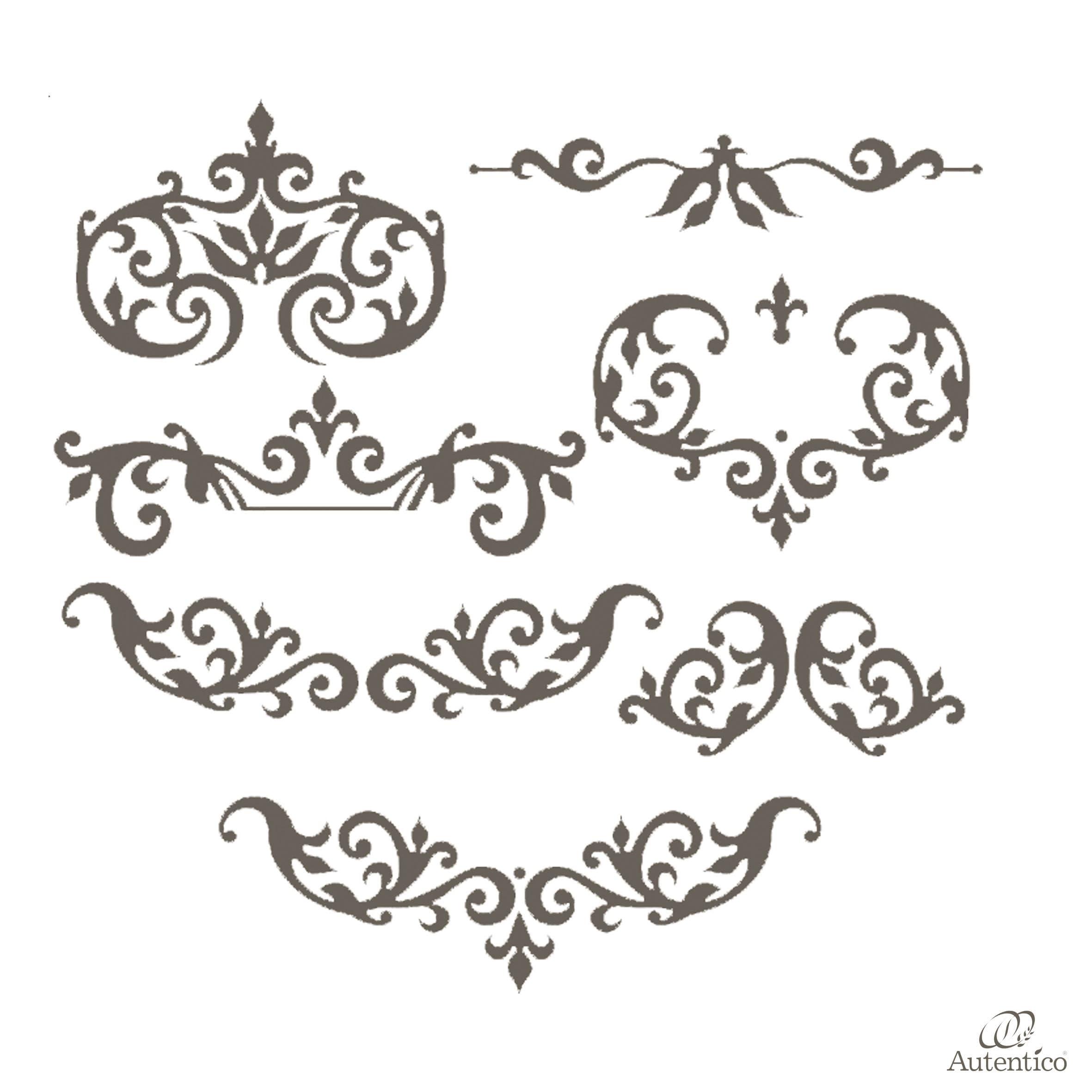 Stencil Shabby Chic Da Stampare.Stencil Riutilizzabile Arabella Autentico Collection Mobili Per
