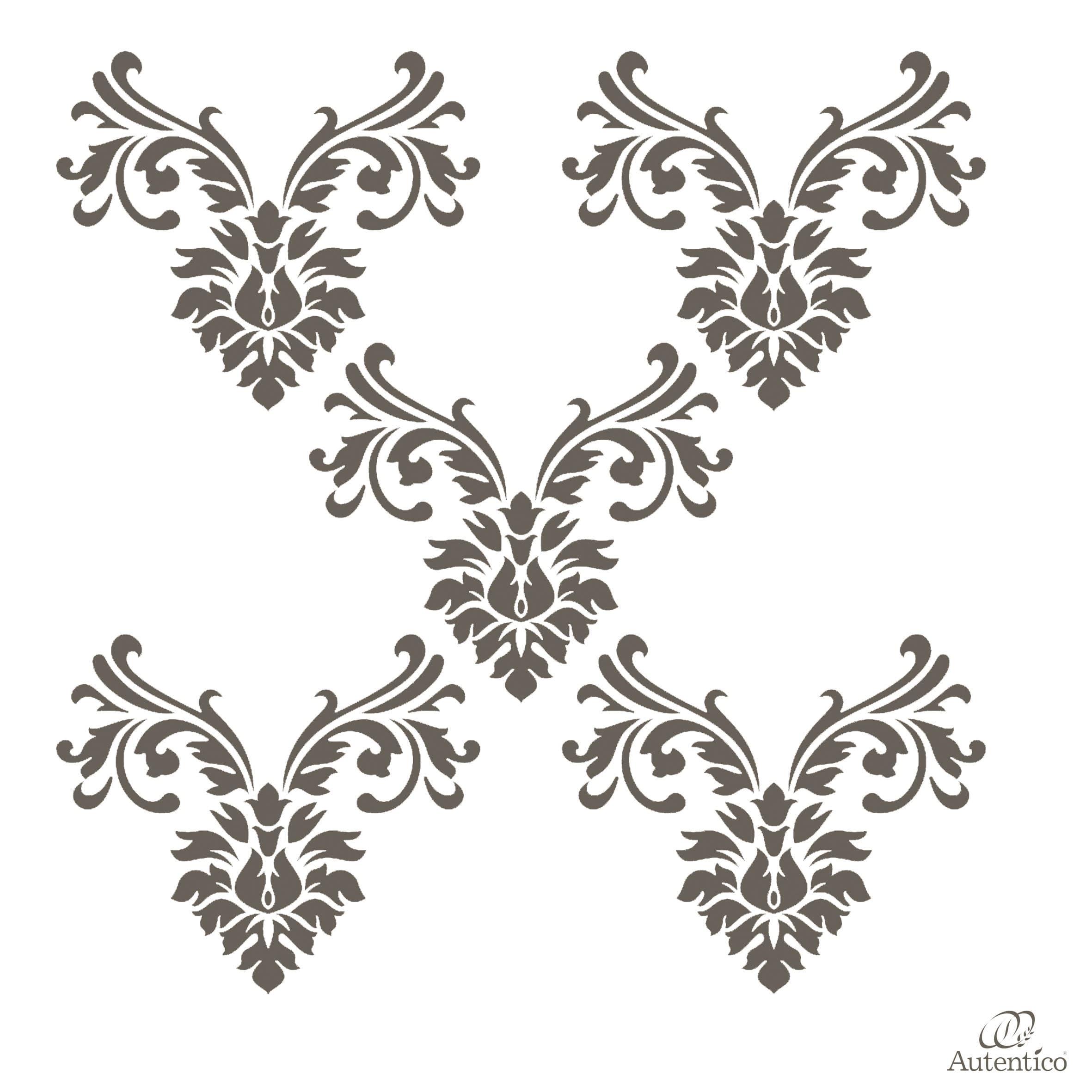Stencil riutilizzabile blossom collection mobili per for Stencil parete
