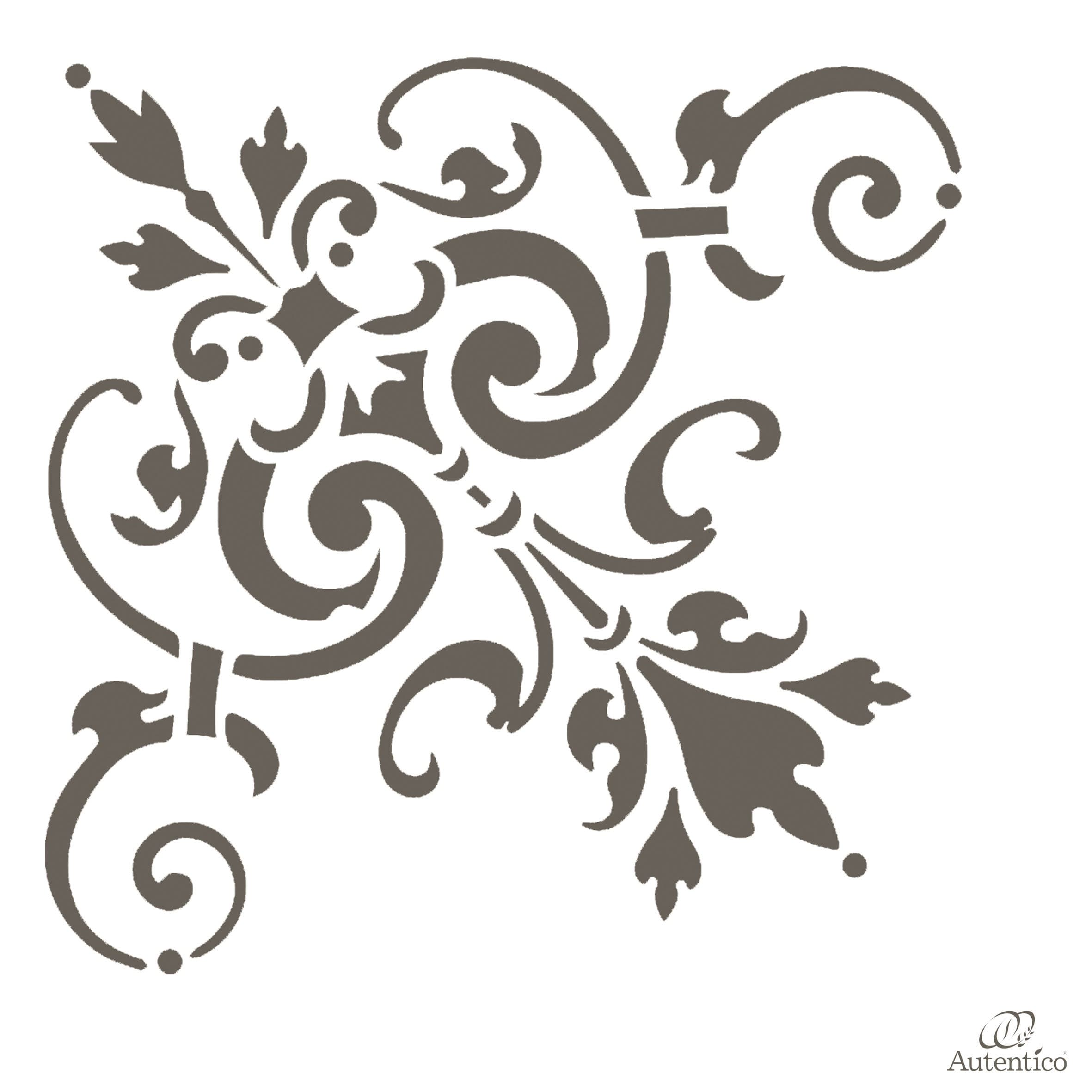 Stencil riutilizzabile ella autentico collection - Stencil adesivi per mobili ...