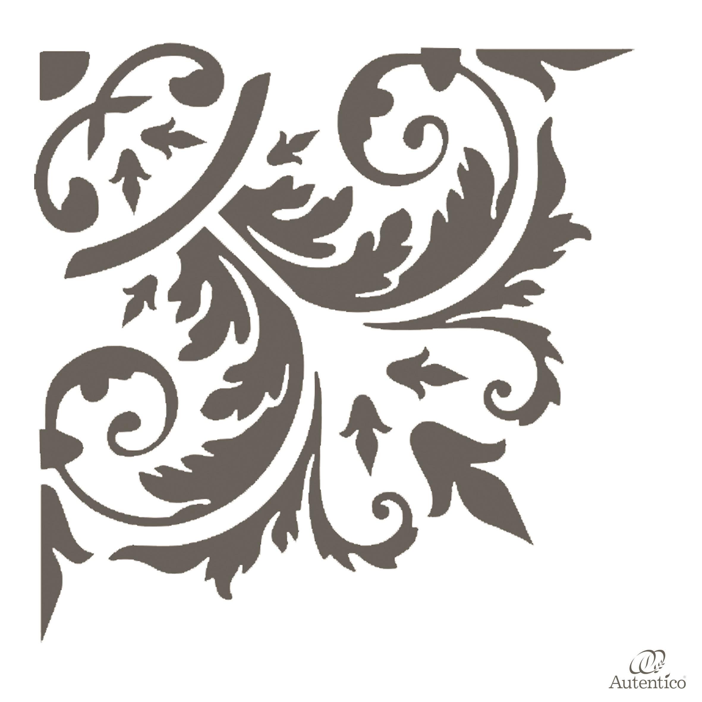 Stencil riutilizzabile evelina corner2 autentico - Stencil adesivi per mobili ...