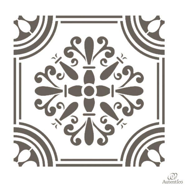Stencil riutilizzabile floor piastrella autentico - Stencil adesivi per mobili ...