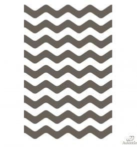 Geometric stripes wall stencil