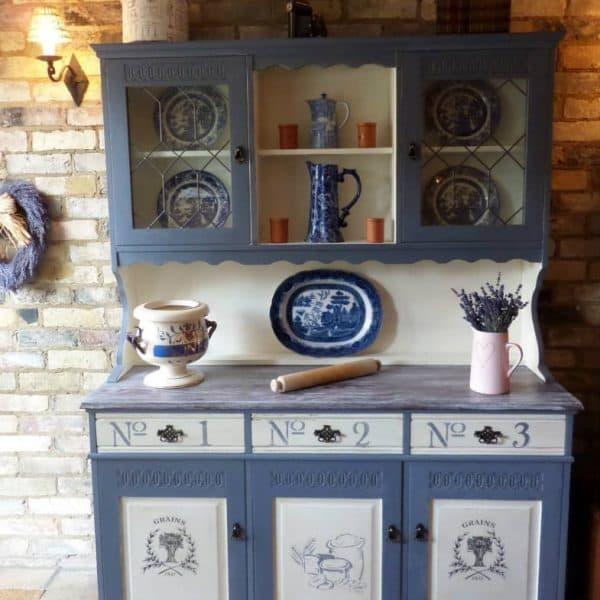 Vernice vintage autentico pavot bleu papavero blu for Vernice per mobili