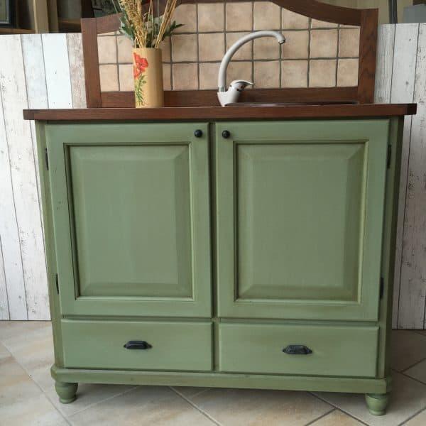 Vernice vintage autentico vert olive verde oliva for Mobili per passione