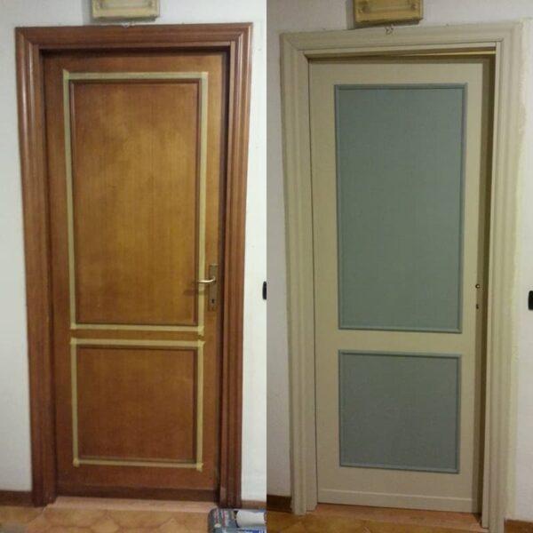 Autentico versante kit rinnova porte sgrassa e colora for Rinnovare porte interne