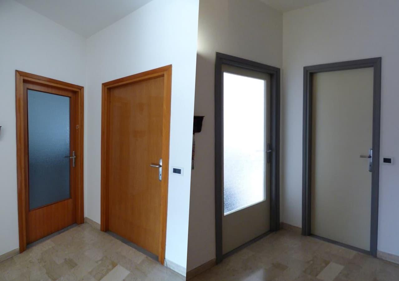 Dipingere Le Porte Di Casa autentico versante kit rinnova porte - sgrassa e colora