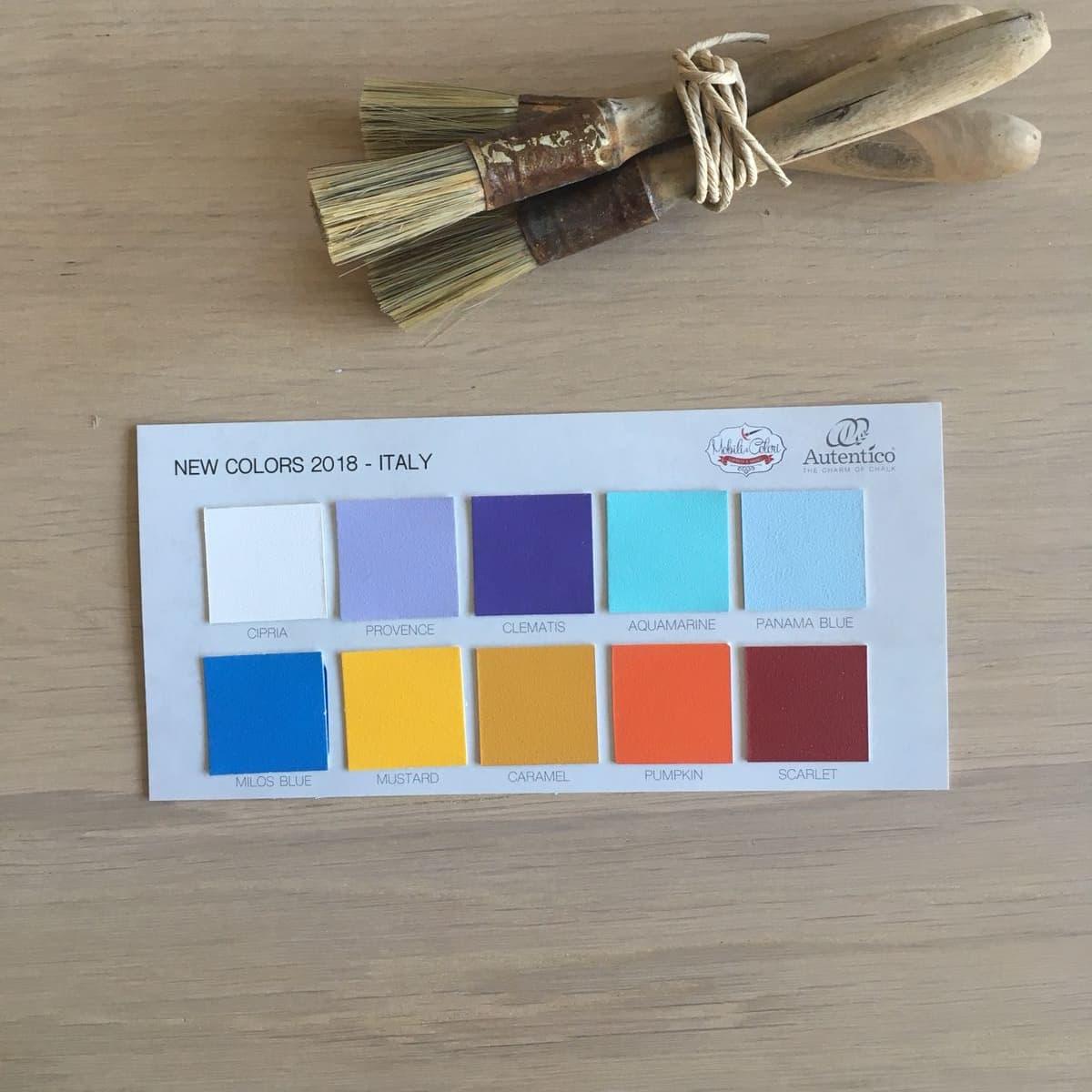 Catalogo Colori Per Pareti cartella colori autentico paint - stampata - 158 colori