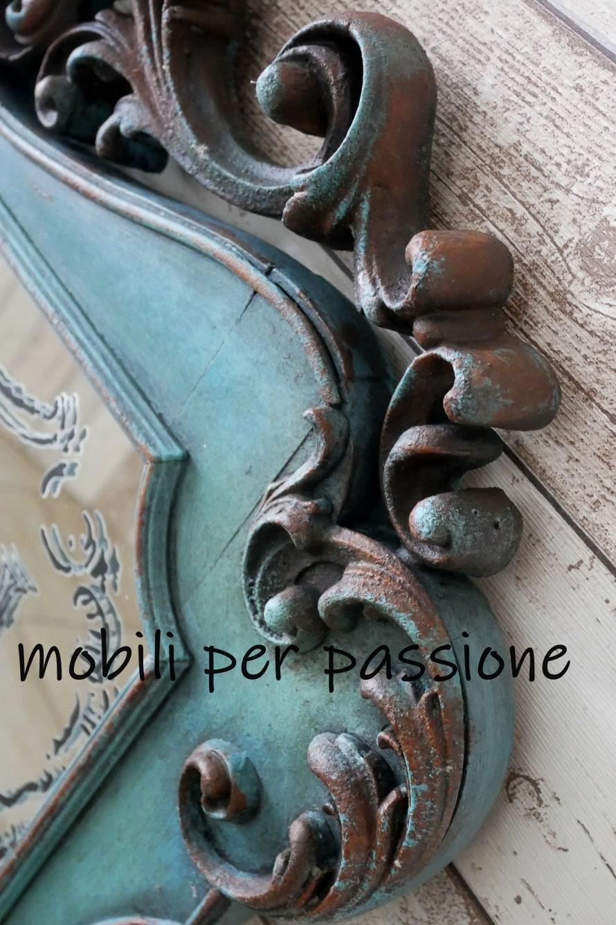 Una Cornice Dei Mobili.Ecco Uno Specchio Colore Del Mare Mobili Per Passione
