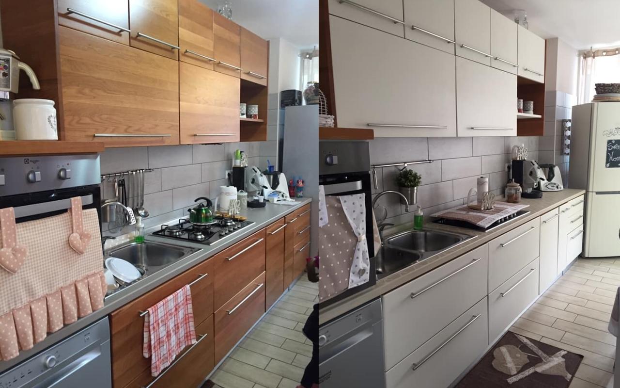 cucina moderna pitturata con colori vintage autentico paint