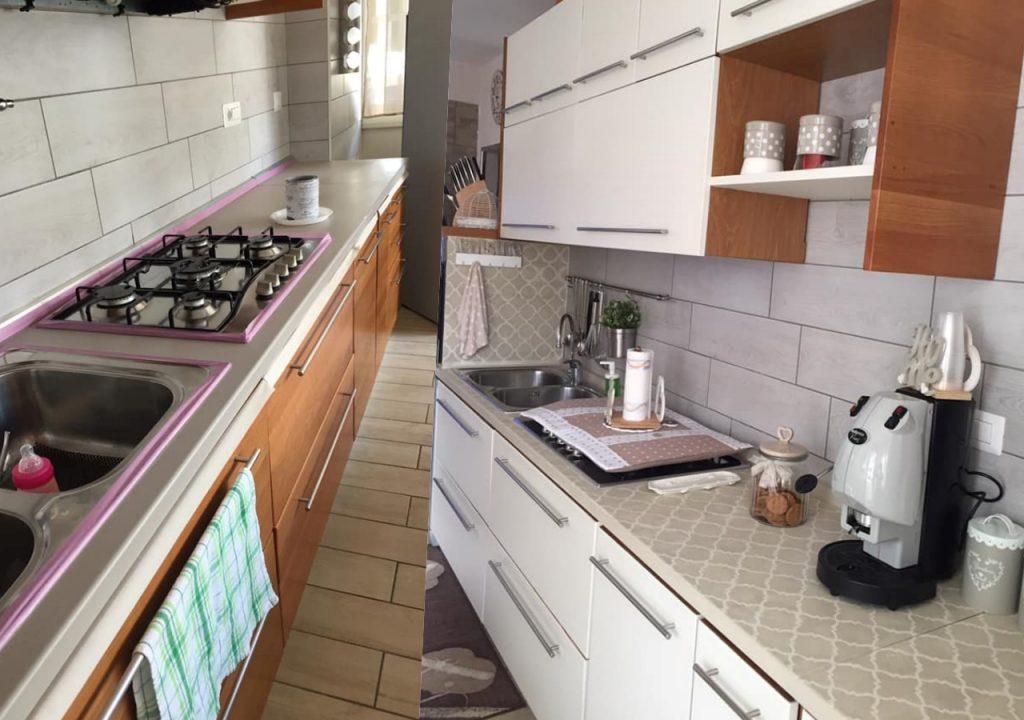 dipingi anche il piano di lavoro in cucina