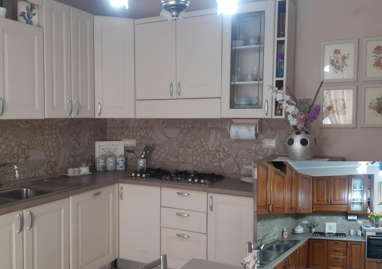 mobili cucina verniciati con pitture gesso autentico